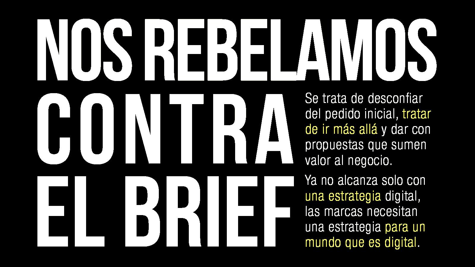 Lumia, nos rebelamos contra el brief